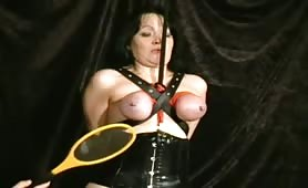 Extreme breast bondage and electro pain