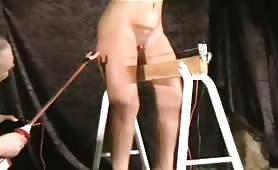 Hogtied slave tormented and fetish tortured