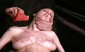 Fetish slave Hotwaxing tit torments