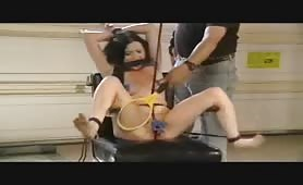 Slave bound and clamped electric tickle