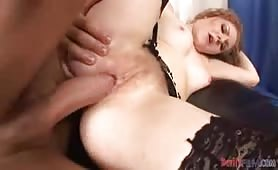 Cute Slut With Hairy Pussy Gets A Nice Fuck & Cumshot