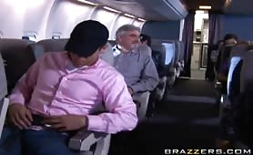 Welcome aboard Brazzers Airlines!!! Our professional staff will take care of your EVERY need!!! Fly Brazzers if you wanna see some big titties bouncing in the airplane bathroom and then getting drizzled with fuming hot cum!!!