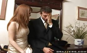 After crashing Prime Minister London's daughter wedding. Jordan and Scott start to look for some high class ass to tap. Jordan spots Nikki and gets her to follow him into the house. Once there, it was only a matter of time before she got on her knees and