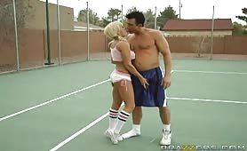 Brooke Belle is unable to beat Billy on the basketball court because he doesn't stop playing dirty. Billy proposes to play a new game called 'TIT,' which is exactly like the game 'HORSE,' however the only difference is the loser has to undress. Finally, B