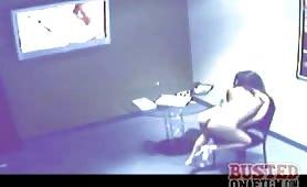 Dildoing slut busted on film