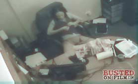 Busted Secretary taking a masturbating break