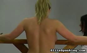Topless fetish Whipping and spanking