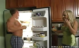 Amazing blonde fucked in the kitchen