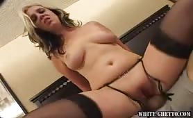 Babe gets her tight pussy fucked hard by black dude