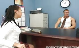 Alexa Jordan stripped by the horny principal