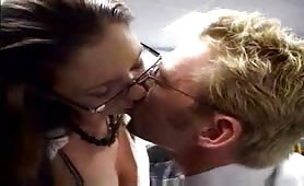 Pretty secretary wants to please her boss