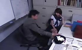 Asian Teen Schoolgirll faces Old Pervert
