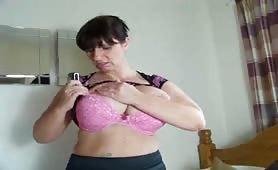 Huge tits british girl masturbates