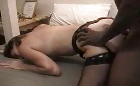 Whore Wife black cock double dick delight