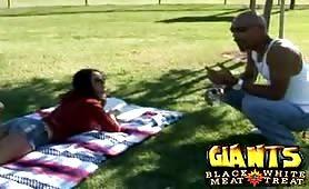 Bigtits Hottie receives Monster black cock