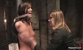 Whipped Ass slave in hands of brutal Mistress