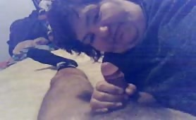 Old and Fat wild whore suck on webcam