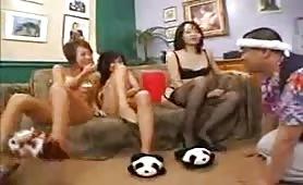 Japanese schoolgirls fun groupsex frenzy