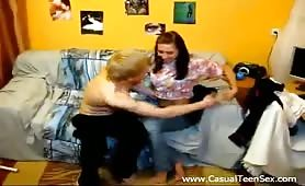 Cutie teen hard casual sex on webcam