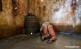 Humiliated rope slave punished severely