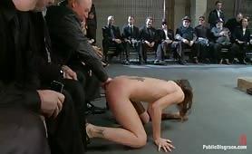 Public disgrace whore Amber