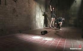 Nasty fetish slave takes all the kinky pain