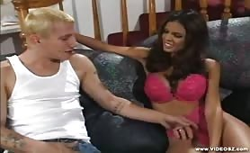 Guy spreads her juicy holes and licks it so nicely
