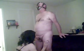 Old pervert sucking and smoking on cam