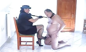 Femdom play on this Submissive hubby