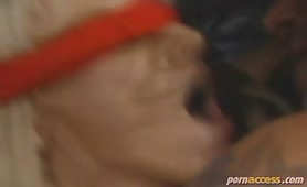 Suzan was getting tired of her sex life, so she asked her husband to get one of his friends to fuck her blindfolded. Now Suzan's fantasies become reality as Jake, Mike's best friend, fucks Suzan with a red blindfold.