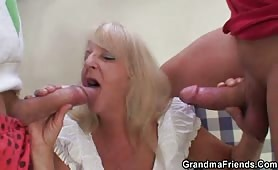 Hairy pussy granny rough fucking