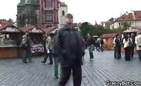 Tourist granny gets fucked