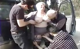 Fatty grandma fucked in a reunion