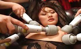 Japanese hot slut wild groupfucking