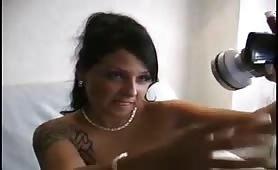 Gorgeous German fist her tight ass