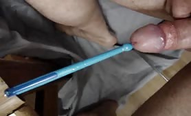 Totally drumstick insertion in my cock !