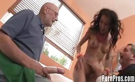 Amia Moretti Meets Some Old Men to Suck On