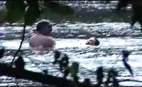 Couple Having Sex In The River