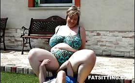 Face smothered with BBW ass