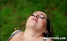 Chubby face-smothering action
