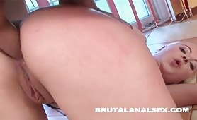 Jacqueline has her ass and throat balls deep on a thick cock